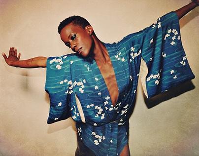 Barbara Panther - Blue Kimono