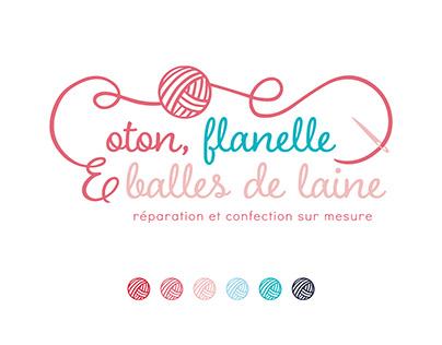Logo - Coton, flanelle et balles de laine