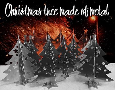 Christmas tree made of metal