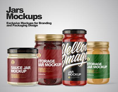 Storage Jars Mockups