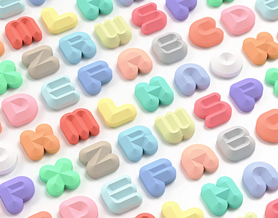 3D 'Offset' Typeface Solid series
