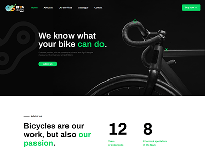 Bicycles Responsive WordPress Website