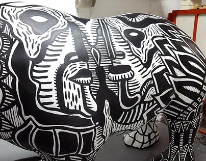 Painted Rhino: The Rhinos are coming