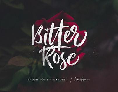 BITTER ROSE - FREE BRUSH FONT + TEXTURES