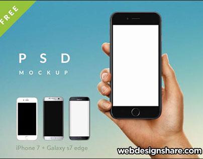 Free iPhone 7 Mockups Templates