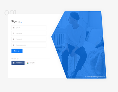 #001 Sign up page