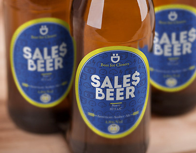 Sales Beer bottle label for Plug CRM