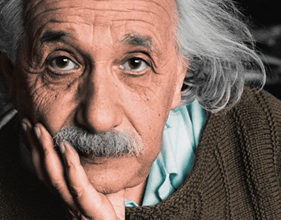 Colorization of A. Einstein at Princeton, 1944