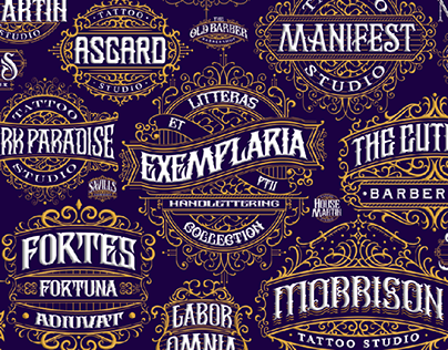 Litteras et Exemplaria pt.2 - concepts of vintage logos