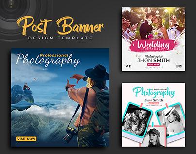 Photography social media post banner's