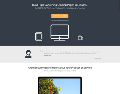Optin Lander - FREE WordPress Template