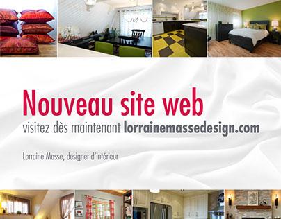 NOUVEAU SITE WEB - LM DESIGN intérieur