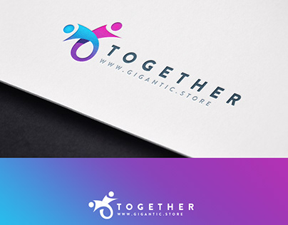 Logo Design Template for Community Brand, All Together
