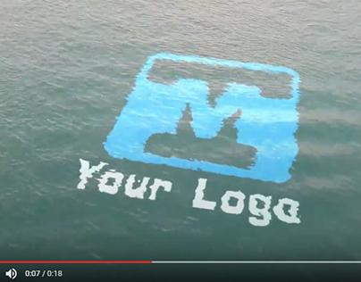 Ocean Water Floating Logo sting reveal
