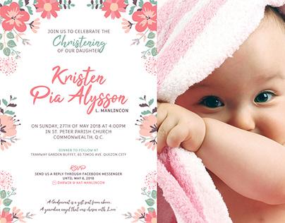 KPA - Christening Invitation