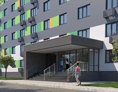 Multi-storey residential house (hostel)