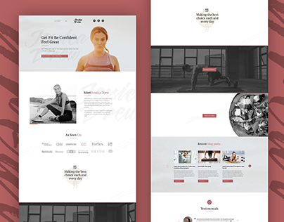 Landing page mockup design for a wellness professional