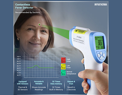 Infrared Thermometer Social Media Post