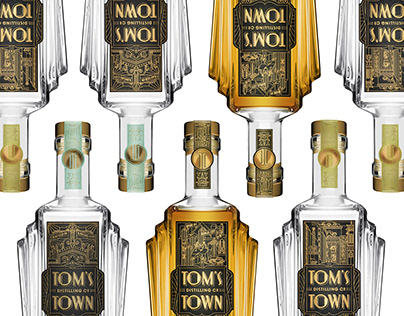 Custom Deco Bottle for Tom's Town