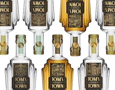 Custom Deco Bottle for Tom's Town