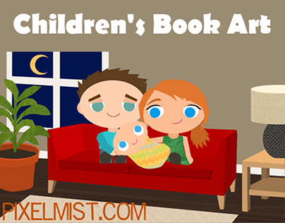 Children's book illustrations I made for a competition.