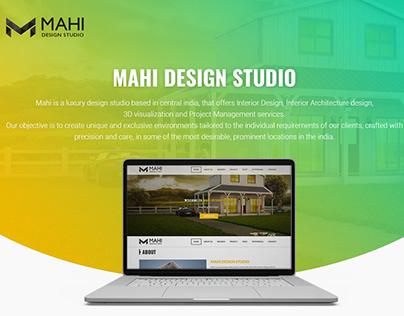 Mahi Design Studio - One page website