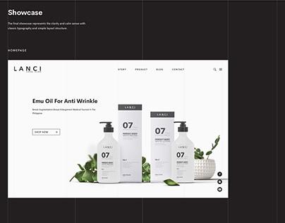 Lanci Cosmetic - Website Design