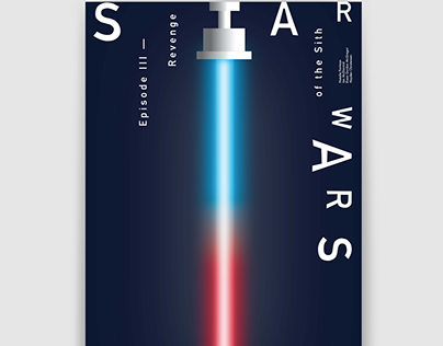 """Stylised posters for the film """"Star Wars"""""""
