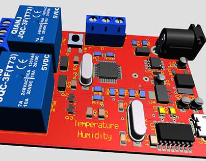 From Arduino project a temperature and humidity PCB.