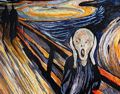 scream embroidery