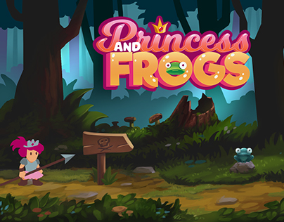 Princess and Frogs Game Concept