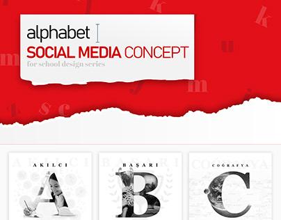 Social Media Alphabet Concept