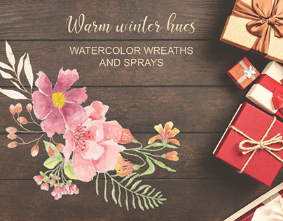 Warm winter hues: wreaths, sprays and elements