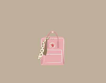 Illustration - Fjällräven + scrunchie