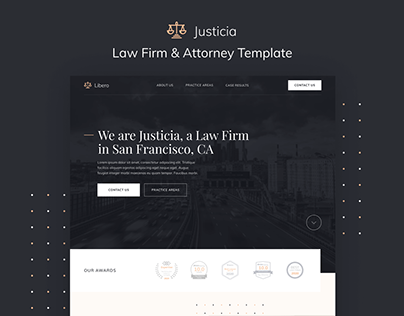 Justicia - Attorney & Law Firm Webflow Template