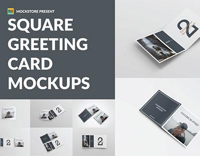 Square Greeting Card Mock-Ups | FREE Download