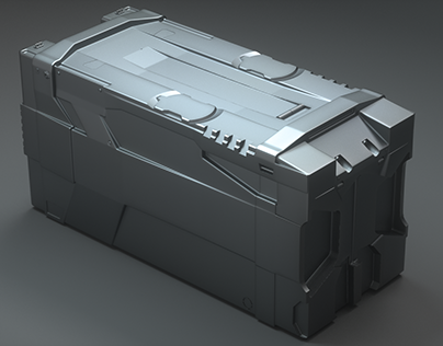 scifi box prop