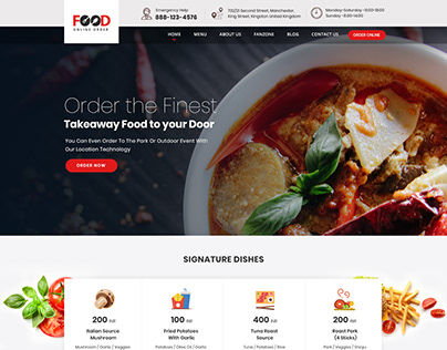Online Food Delivery website template