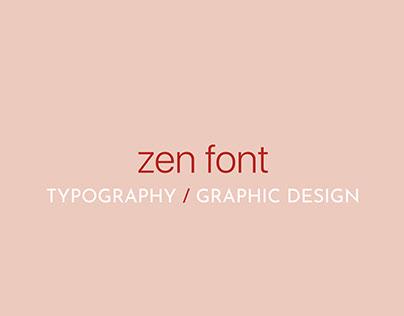 zen font