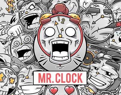 Stickers pack MR. CLOCK (Telegram) — 2018