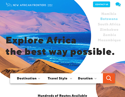 Explore Africa: Travel Website