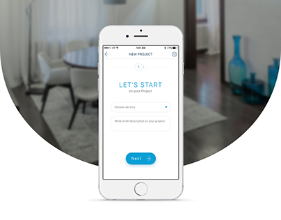 Home renovation service App for iOS