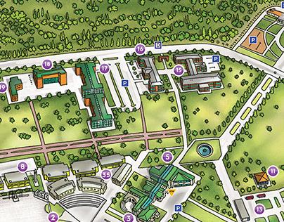 MAKÜ Campus Map Illustration