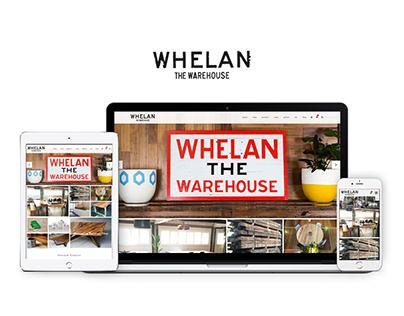 Whelans Warehouse Website Design
