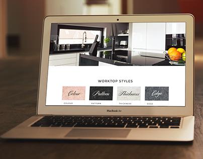 Finesse Granite Worktops Web Design