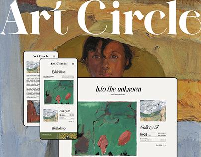 Responsive website design: Art Circle