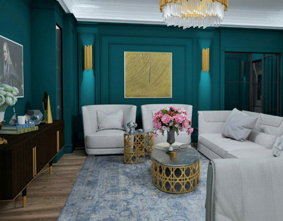 Living room. Private apartment. Baku Azerbaijan.2017
