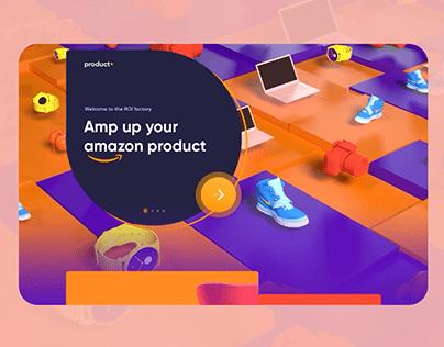 3d Website animation| Ui / UX design