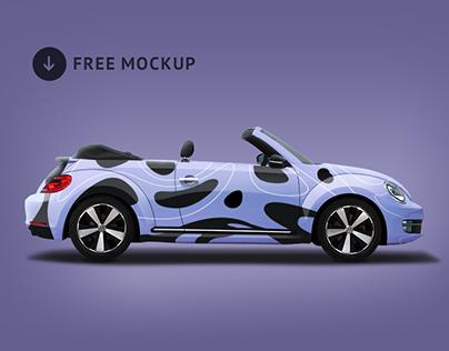 Legendary Beetle car branding mockup