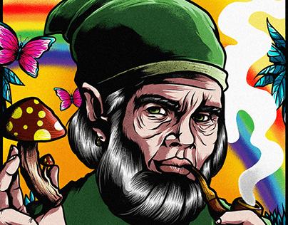 Mushroom Psychedelic Gnome
